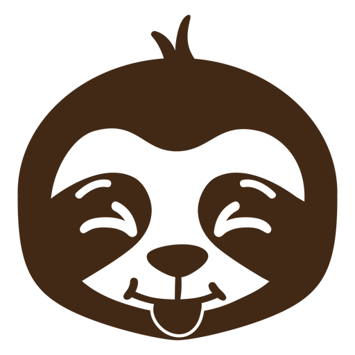 Sloth happy head muzzle flat