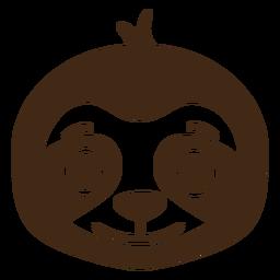 Preguiça alegre cabeça focinho plana