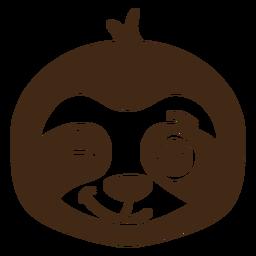 Bozal de cabeza de guiño perezoso plano