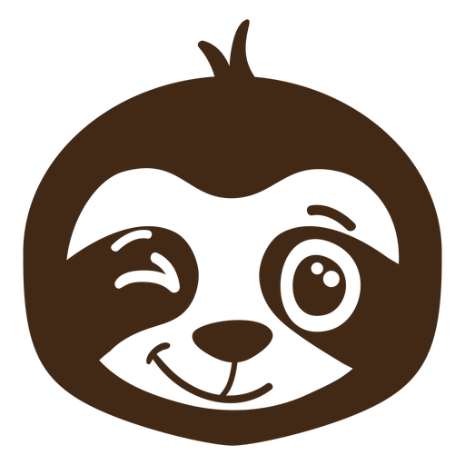 Sloth wink head muzzle flat