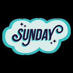Etiqueta engomada de la insignia del domingo