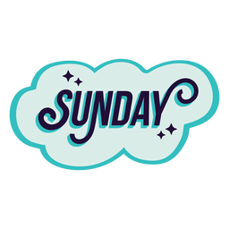 Sunday badge sticker