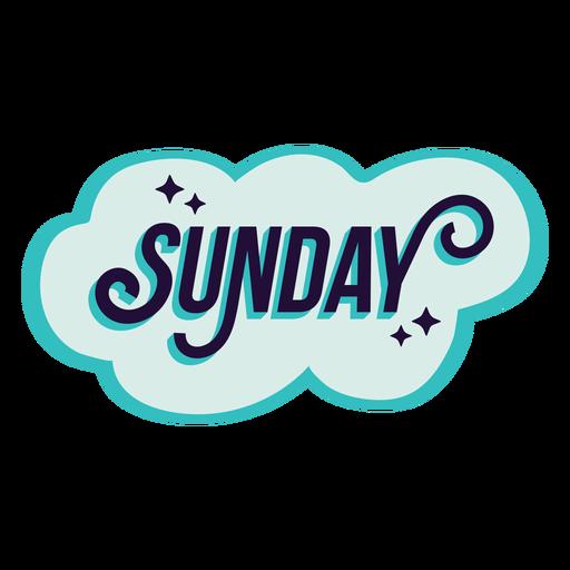 Sunday badge sticker Transparent PNG