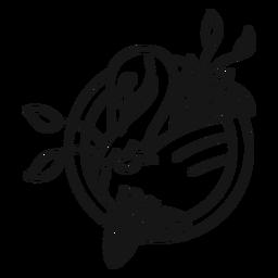 Schwan Blume Tattoo Schlaganfall
