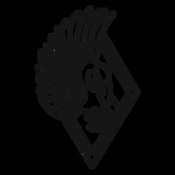 Trazo de tatuaje de ala de cisne