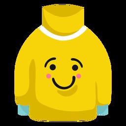 Pulôver de camisola sorrir plana