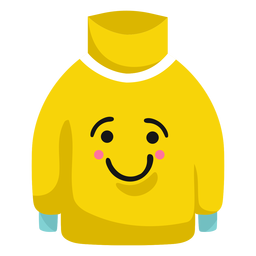 Sweater pullover smile flat