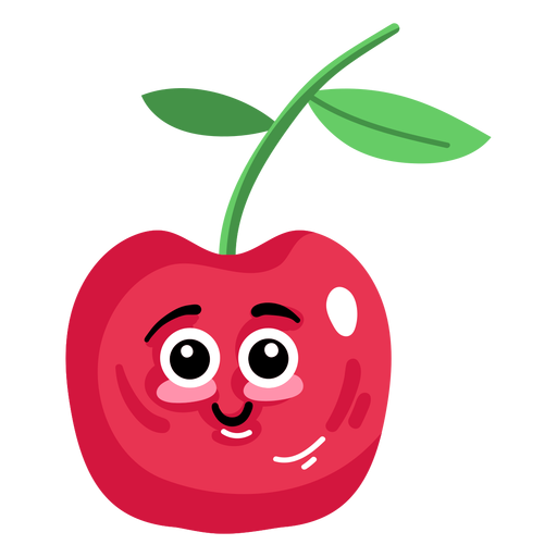 Sweet cherry cherry flat Transparent PNG