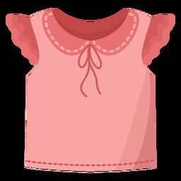 Camiseta blusa plana