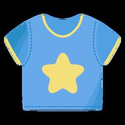 Camiseta camiseta estrella plana