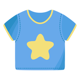 Tee shirt t shirt star flat