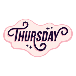 Thursday badge sticker