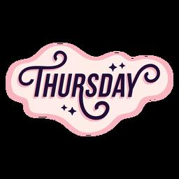 Thursday badge sticker