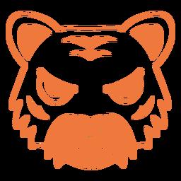 Tigre enojado cabeza hocico golpe