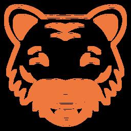 Tiger happy head muzzle stroke