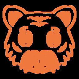 Tiger joyful head muzzle stroke