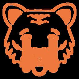 Tiger sad head muzzle stroke