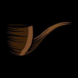 Tabakpfeife flach