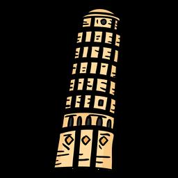 Torre da torre de pisa plana