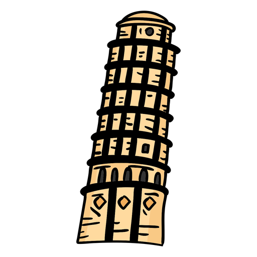 Tower of pisa tower flat Transparent PNG