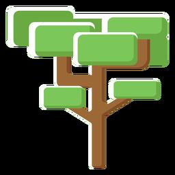Tree trunk flat