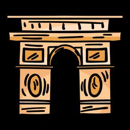 Triumphal arch arc de triomphe sketch
