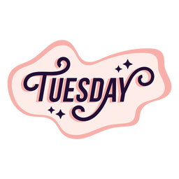 Tuesday badge sticker