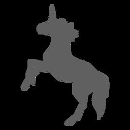 Silueta de cola de caballo cuerno de unicornio