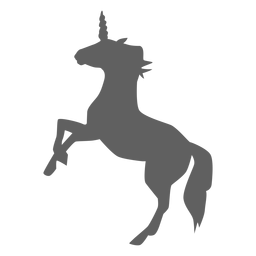 Unicorn horn horse tail silhouette