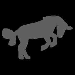 Silueta de cola de cuerno de caballo unicornio