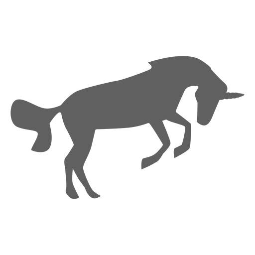 Unicorn horse horn tail silhouette Transparent PNG