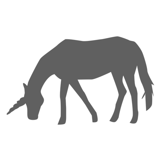 Unicorn horse tail horn silhouette Transparent PNG