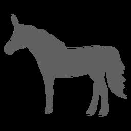 Silhueta de chifre de cavalo cauda de unicórnio
