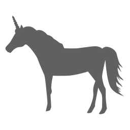 Unicorn tail horse horn silhouette