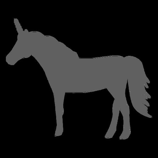 Silueta de cuerno de caballo cola de unicornio Transparent PNG