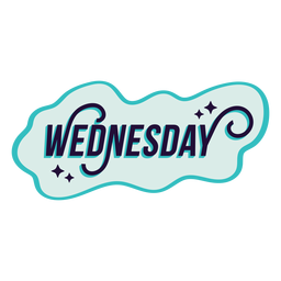 Wednesday badge sticker