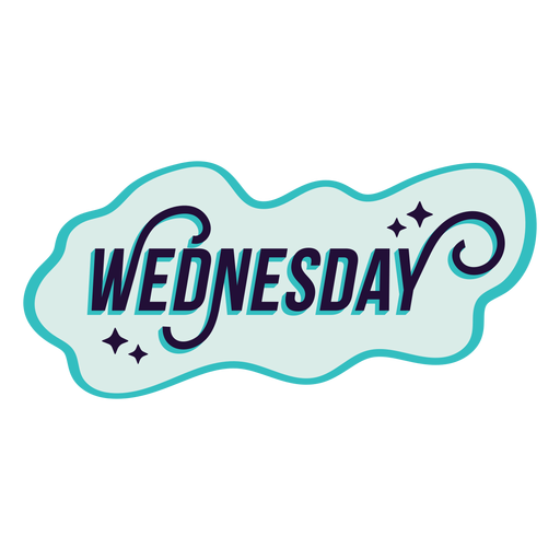 Wednesday badge sticker Transparent PNG