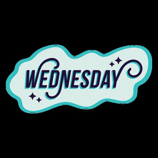 Wednesday badge sticker Transparent PNG