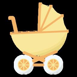 Rueda de carro de bebé plana