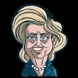 Frau Hillary Clinton Haarschnitt Skizze