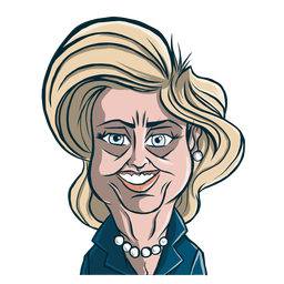 Woman hillary clinton haircut sketch