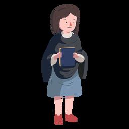 Livro judaico de mulher plana