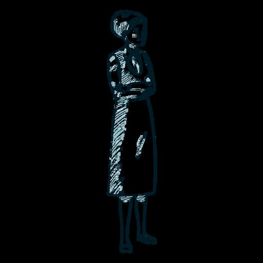 Woman jewish posture line