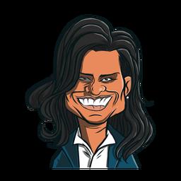 Mujer michelle obama corte de pelo boceto