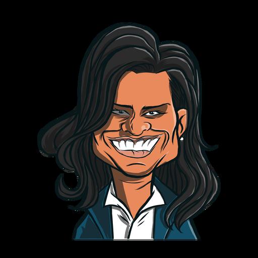 Frau Michelle Obama Haarschnitt Skizze