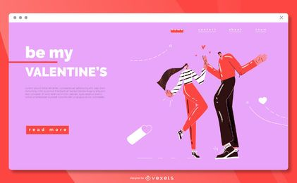 Be my valentine's landing page