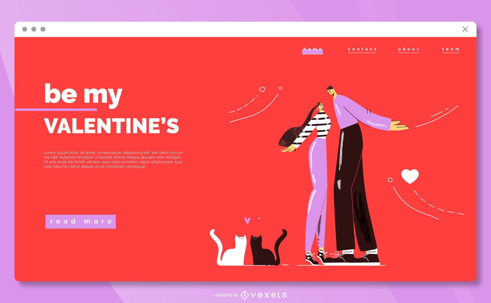 Cute valentine's day landing page