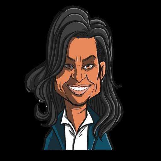 Dibujo de corte de pelo de mujer obama michelle