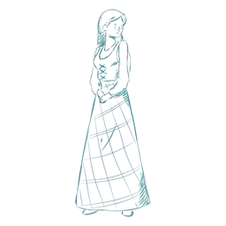 Falda mujer linea escocesa