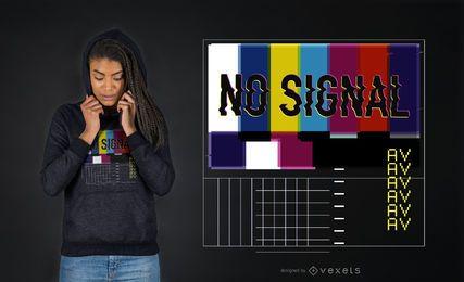 Diseño de camiseta sin señal vaporwave